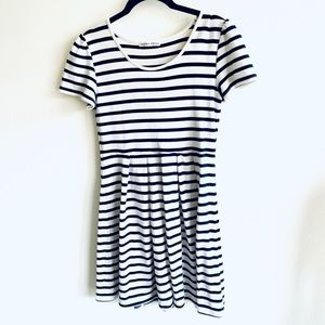 Blue and White Short-Sleeve Dress!
